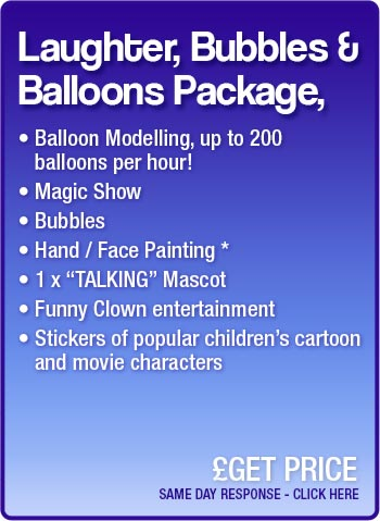 Laughter, Bubbles & Balloons Package details