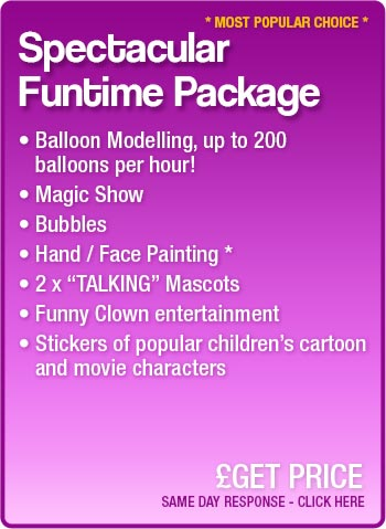 Spectacular Funtime Party package details